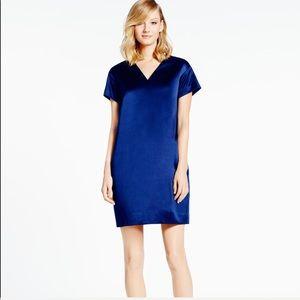 Kate Spade Madison Avenue Blue Silk Cocktail Dress